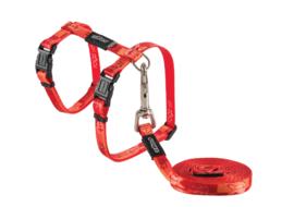 Rogz Beltz - Catz KiddyCat Tuig+Lijn Tango Fishbone 8 mm.>1.8m/24-40cm
