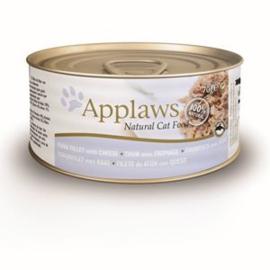 Applaws Blik Cat Tuna Fillet & Cheese 24 x 70 gr
