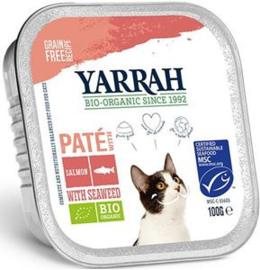 Yarrah Kat Alu Pate Zalm/Zeewier 16 x 100 gr