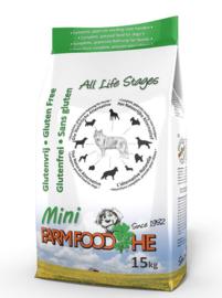 Farm Food HE Glutenvrij Puppy Mini 4 kg  Nu: inclusief Farm Food Fresh Menu pens en hart 125 gr