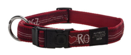 ROGZ ARMED RESPONSE HALSBAND RED HEART XL - 25MM