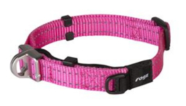 Snake Safety Halsband Pink  Maat:	16 mm.
