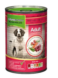 Natures Menu Dog Blik Beef & Chicken 	12 x 400 gr