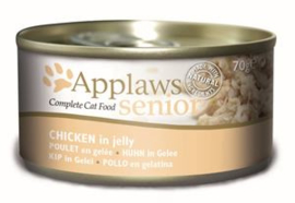 Applaws blik cat Senior Tuna Salmon - 70 gr. (24 verp.)