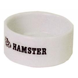HAMSTER EETBAK STEEN WIT - 6 CM.
