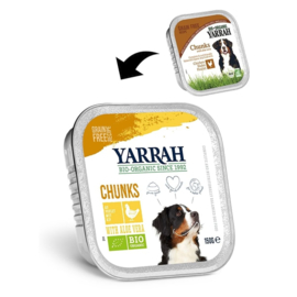 YARRAH - BIOLOGISCHE BROKJES IN SAUS 150 GR KIP ADULT (per 12 stuks)