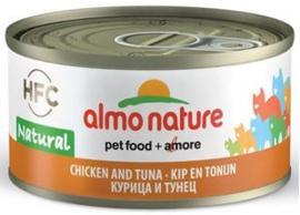 Almo Nature Kip met Tonijn - 70 gr. (24 verp.)
