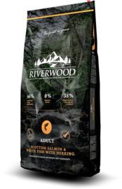 Riverwood Adult, Schotse Zalm & Witvis met Haring 12kg graan- en glutenvrije