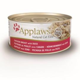 Applaws Blik Cat Chicken Breast & Duck 24 x 70 gr
