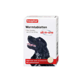 Wormtabletten All-in-One hond 2,5 - 20kg 2 tabletten