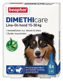 Beaphar Dimethicare Line-on hond 15-30 kilo 6 pip
