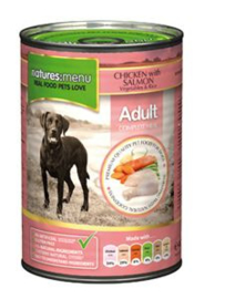 Natures Menu  Dog Blik Chicken & Salmon 6 x 400 gr