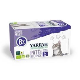 Yarrah Kat Alu MP Pate Kip&Kalkoen 8x100 gr