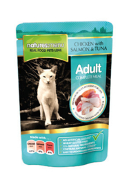 Natures Menu Cat Pouch Salmon & Tuna -  12 x 100 gr