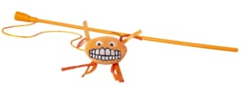 Rogz Catnip Flossy Magic Stick Orange