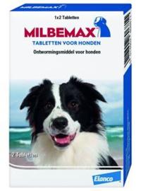 Milbemax Hond Groot 2 tabl.