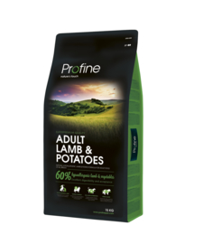 Dubbelpak! Profine Adult Lamb & Potatoes 2x15 kg  Nu inclusief: Profine Grain Free snack Lamb