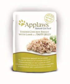 Applaws Cat Pouch Chicken/Lamb in jelly 16 x 70 gr