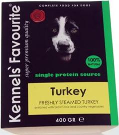 Kennels Fav. Steamed   10 x 400 gr Turkey