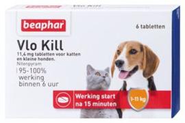 Vlo Kill kat en hond tot 11 kg 5 x 6 tab
