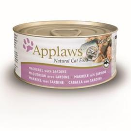 Applaws Blik Cat Mackerel & Sardine - 70 gr. (24 verp.)