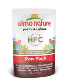 Almo Nature Raw Kip en Ham - 55 gr. (24 verp.)