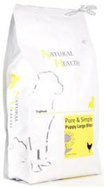 Natural Health Dog Chicken & Rice Puppy Large bite 2.5 kg