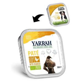 YARRAH - BIOLOGISCHE PATE 150 GR KIP & ZEEWIER ADULT (per 12 st)