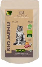 Biofood organic kat rund menu pouch kattenvoer 100 gr per stuk