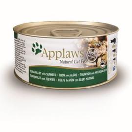Applaws Blik Cat Tuna Fillet & Seaweed 24 x 70 gr