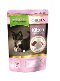 Natures Menu Cat Pouch Kitten -  12 x 100 gr