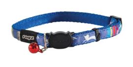 Rogz Neocat Blue Candystripes - 11mm - 20-31 cm.