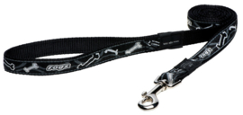 ROGZ BEACH BUM LIJN BLACK BONE  - 20MM