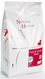 Natural Health  Dog Lamb & Rice Senior 2 kg