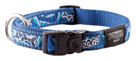 ROGZ BEACH BUM HALSBAND NAVY ZEN L- 20MM