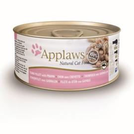 Applaws Blik Cat Tuna Fillet & Prawn 24 x 70 gr