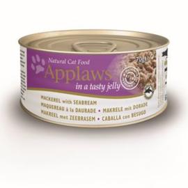 Applaws Blik Cat Jelly Mackerel & Seabream - 70 gr. (24 verp.)