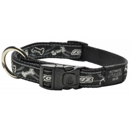 ROGZ BEACH BUM HALSBAND BLACK BONE L - 20MM  34-56 cm