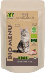Biofood organic kat kip menu pouch kattenvoer 100 gr per stuk