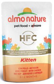 Almo Nature Kitten kip - 55 gr. (24 verp.)