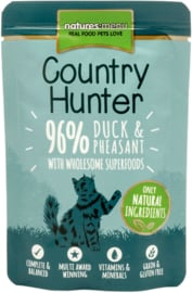 Natures Menu Cat Country Hunter Pouch Duck & Pheasant - 6 x 85 gr