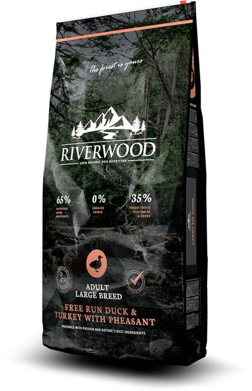 Riverwood Adult Large Breed Free Run Eend & Kalkoen 2 kg  graan- en glutenvrije