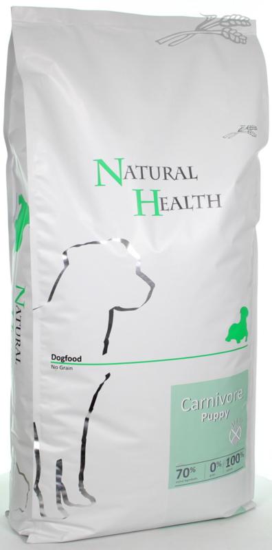 Natural Health   Dog Carnivore Puppy  15kg