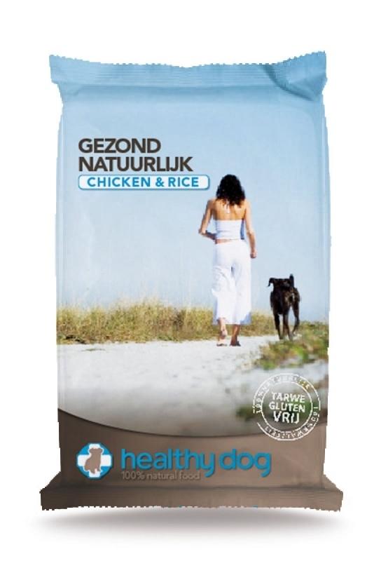 Healthy dog Chicken & Rice 15kg (tarwe glutenvrije)