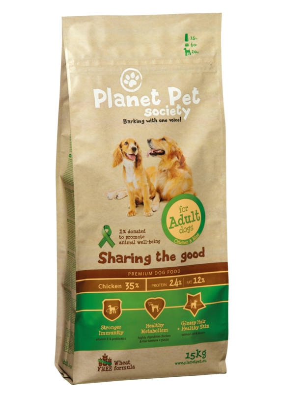 Dubbelpak! Planet Pet Adult Chicken & Rice 2x15 kg