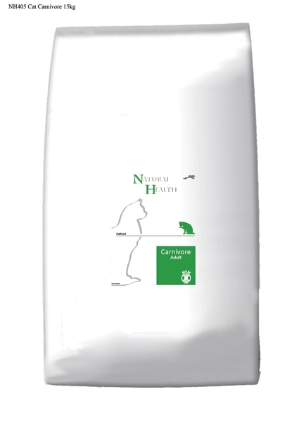 Natural Health graanvrij kattenvoer Adult Carnivore 15 kg