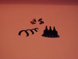 Decoratie Taart, slinger en confetti