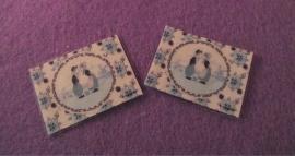 2 placemats boer/boerin