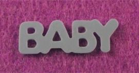 Decoratie woord baby blauw