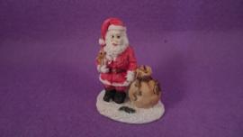 Beeld kerstman met zak cadeaus (PP)